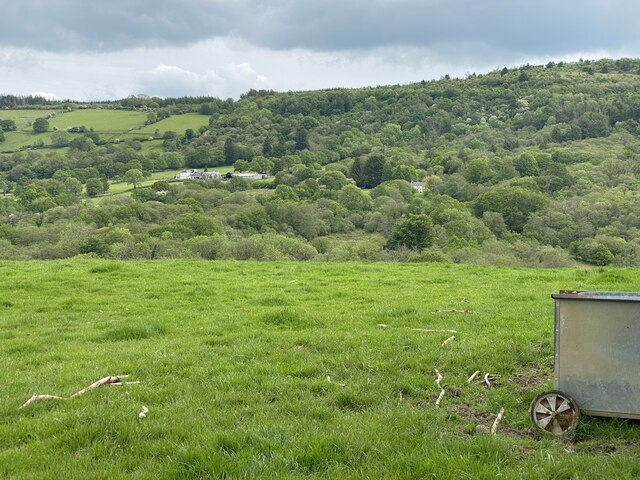View across the Nant Llwyd valley