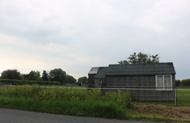 Horse pasture by East Mersea Road