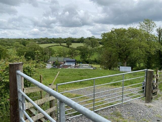 Gates and a farm