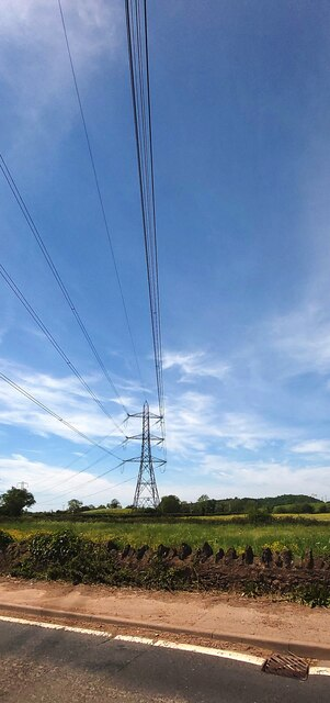 Electricity Powerlines near Melsbury