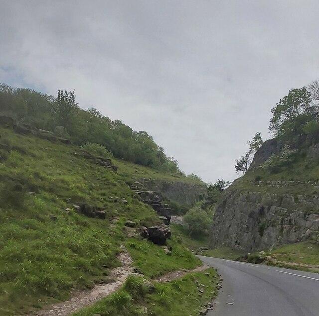Road in Cheddar Gorge