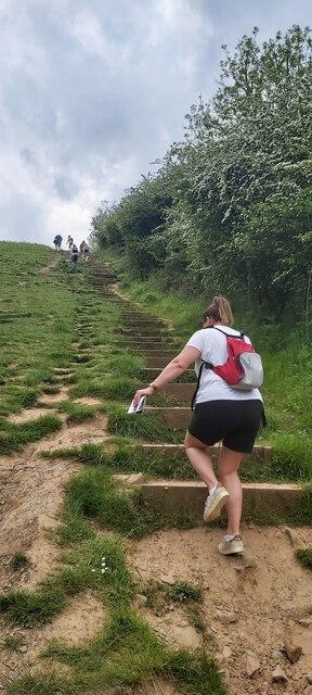 Steep path at Black Rock