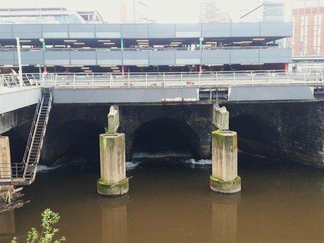 Leeds Dark Arches, upstream end