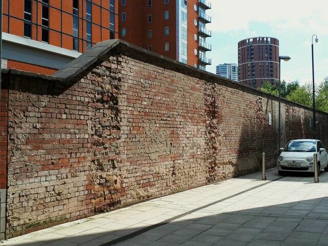 Wall of former power station, Whitehall Riverside