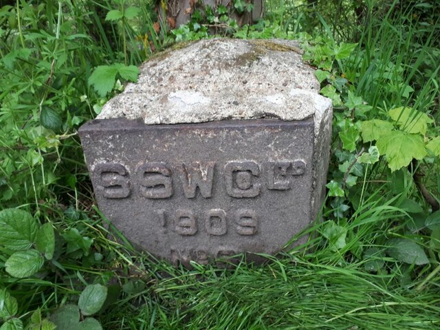 Mystery marker by the canal towpath