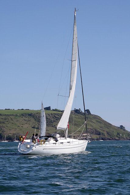 Sailing through Plymouth Sound