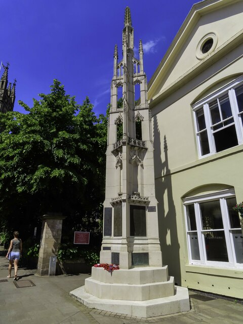 The war memorial in Church Street
