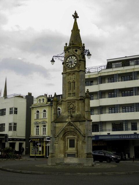 The Mallock Memorial Clock Tower in Torquay