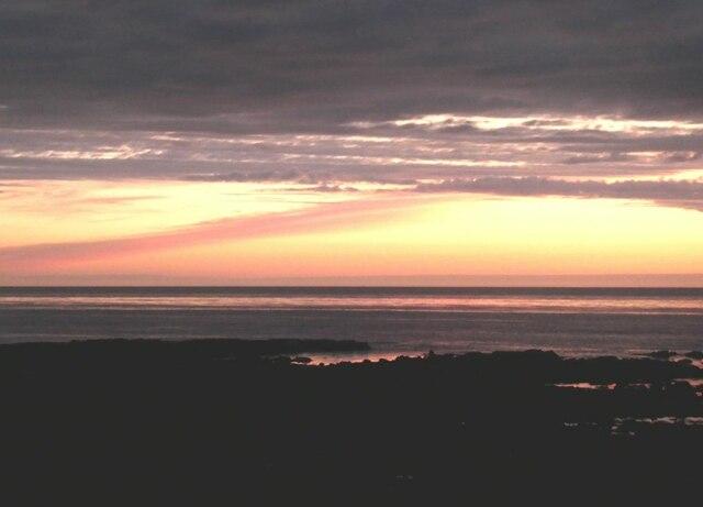 Sunrise over the coast at Inverallochy