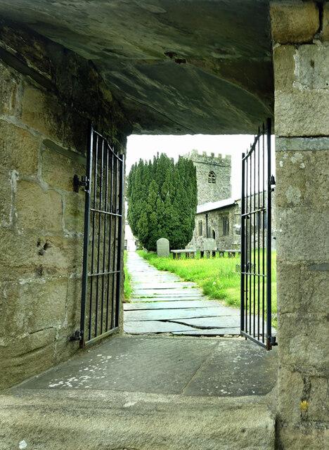 Approaching St Oswald's church
