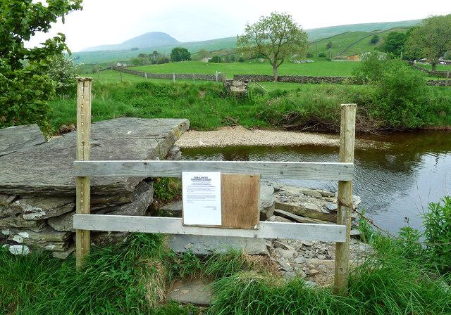 No footbridge over the River Ribble