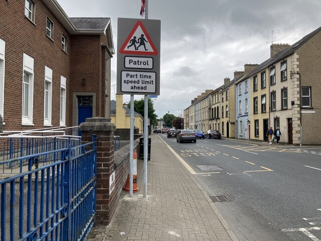 Part time speed limit notice, Omagh