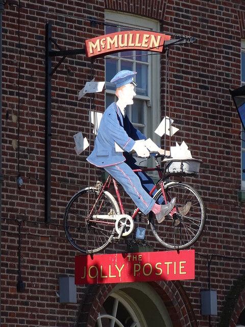Jolly Postie sign
