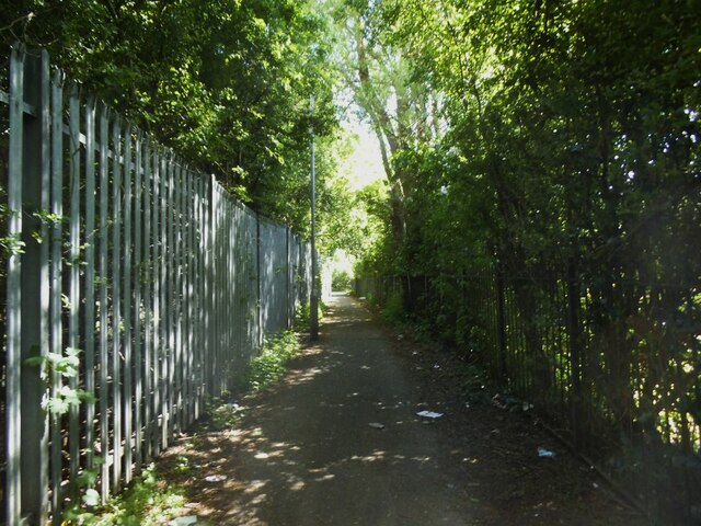 Path round the back of Knowleswood Primary School