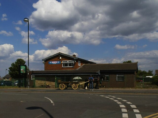 The Holmewood Bound pub, with horse and cart