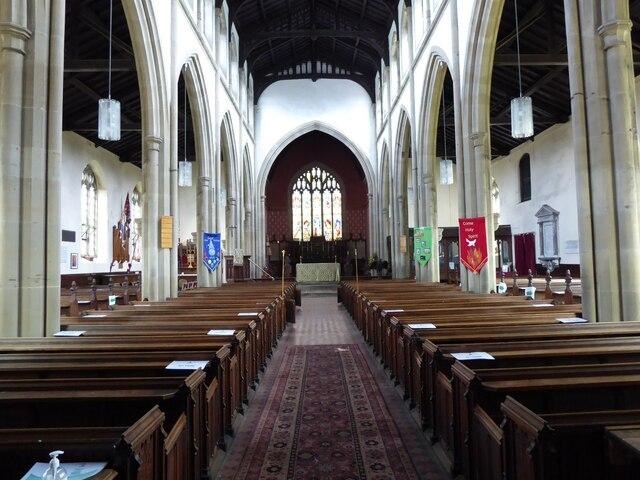 Interior of Broseley church