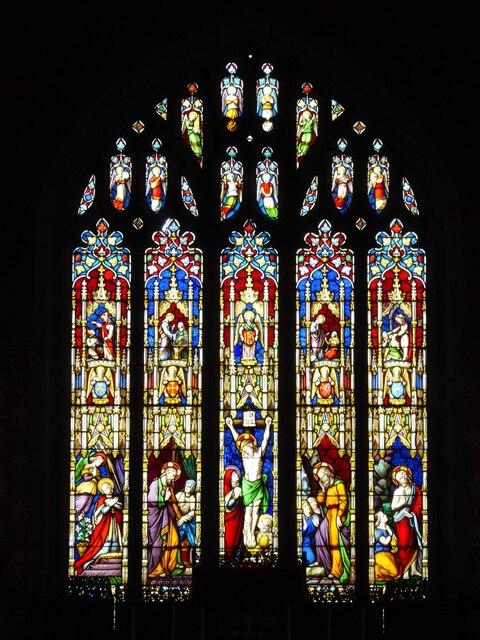 East window, Broseley church