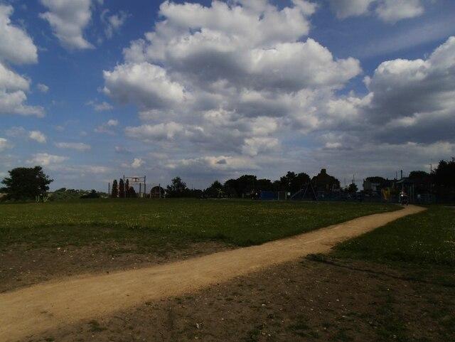 Path to the playground, Swinnow Moor