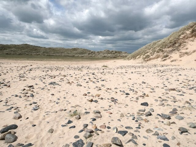 Blowout in the sand dunes at Rattray Head