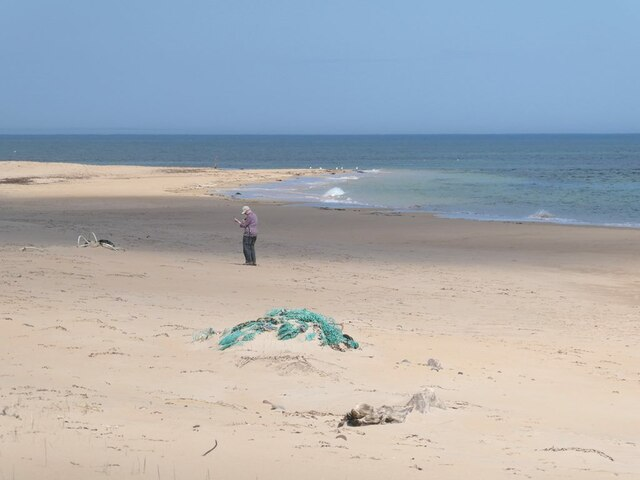 The extensive beach at Rattray Head