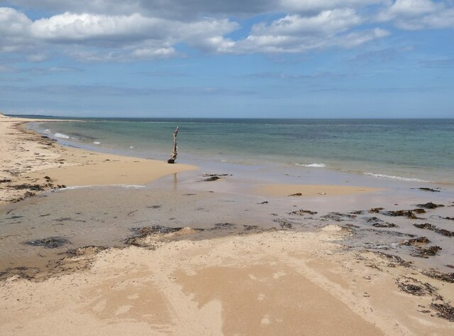 The beach north of Rattray Head