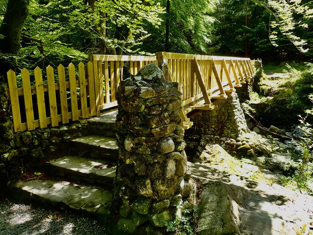 New footbridge below the Hermitage