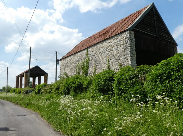 Old and new barns on East Town Lane