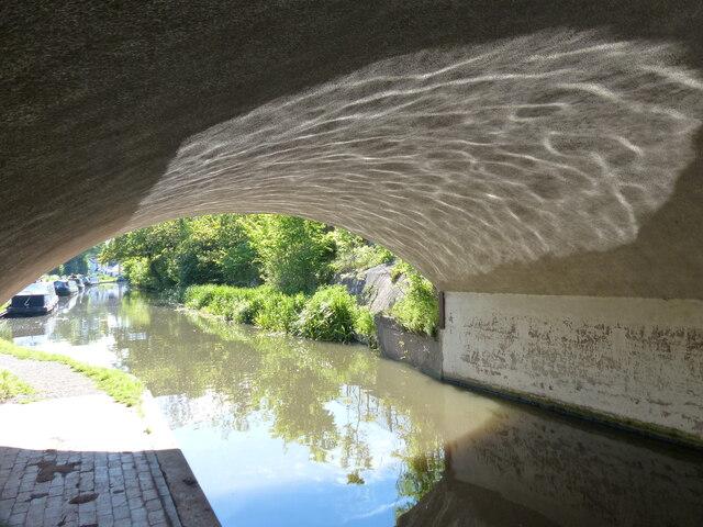 Under the A441 Road Bridge No 67 at Hopwood