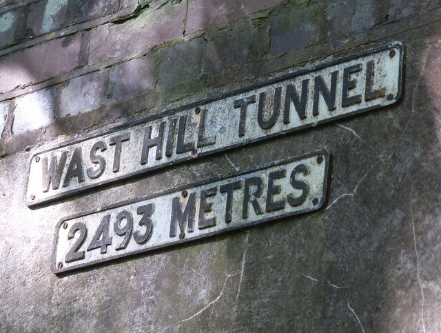 Sign above the South portal of the Wast Hill Tunnel