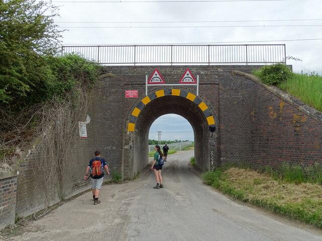Bridge under railway