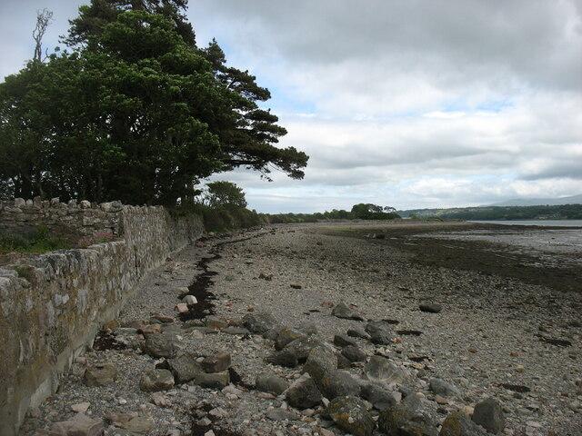 Shore of the Menai Strait at Barras