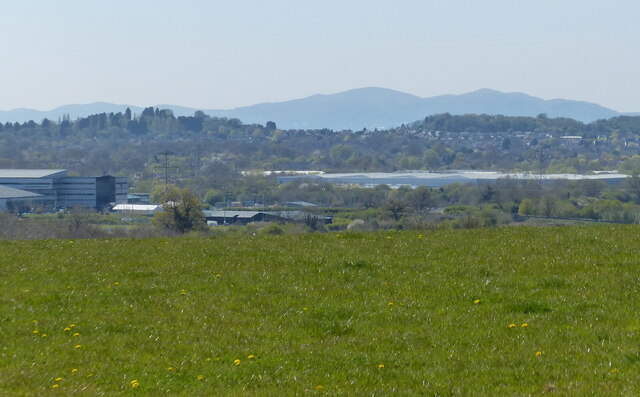 View across Worcester to the Malvern Hills