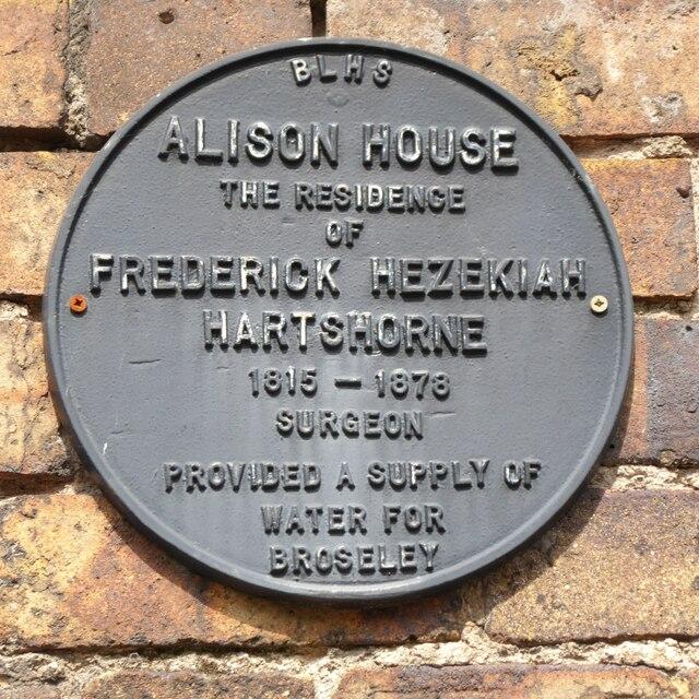 Plaque on Alison House