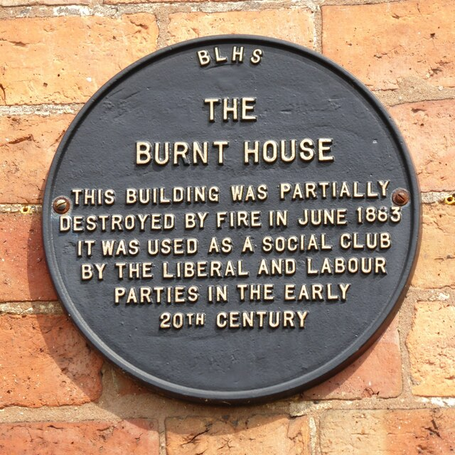 Plaque on The Burnt House