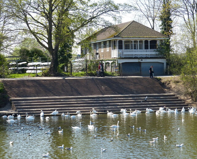 Boat house along the River Severn at Worcester