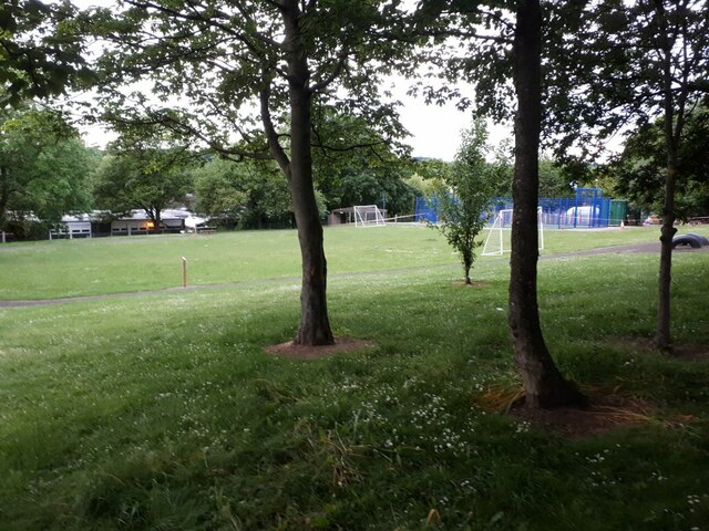 Playing field of Burley St Matthias Primary School