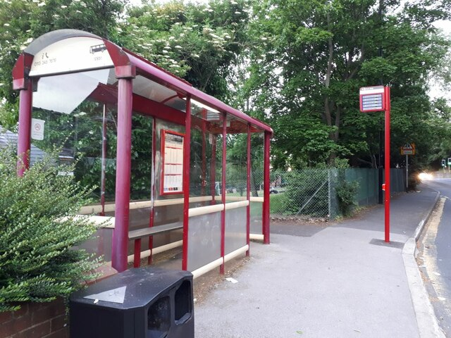Bus shelter on Burley Road