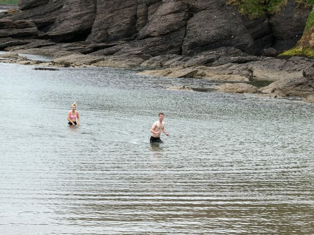 Swimmers in Cullykhan Bay