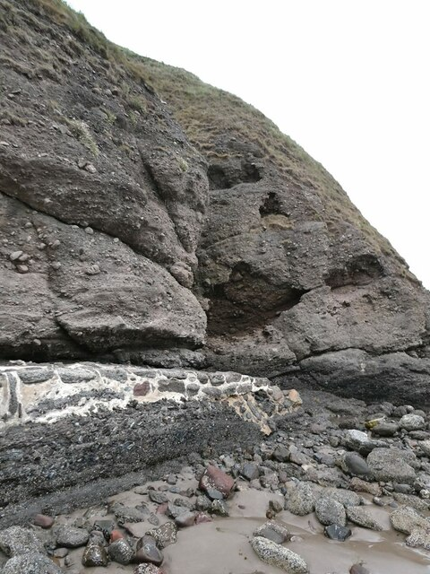 Cliffs of conglomerate rock