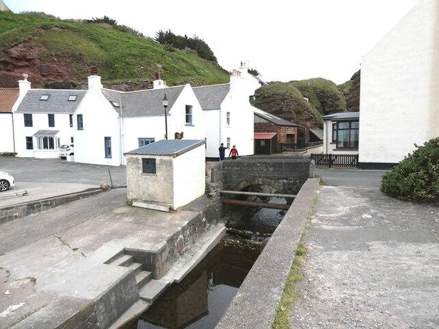 Stream mouth at Pennan village