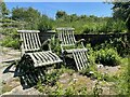 TQ6127 : Chairs at Rolf's Farm by Oast House Archive