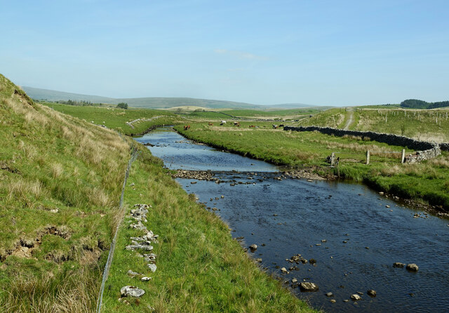 The River Ribble from the Pennine Bridleway