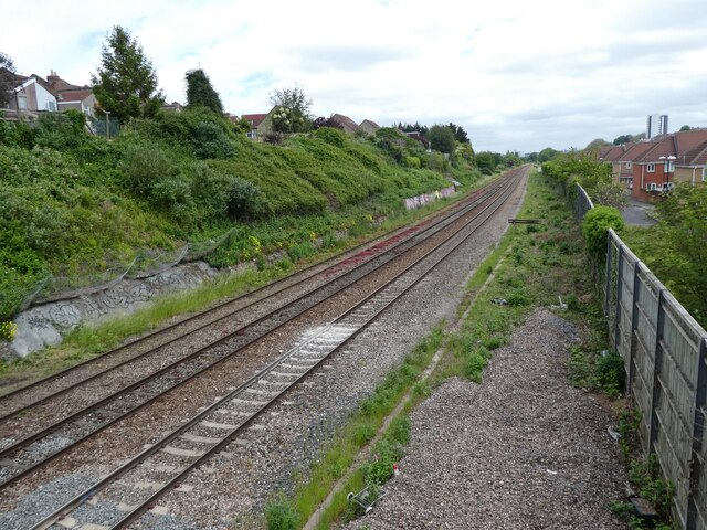 Railway line to Bristol (Temple Meads)