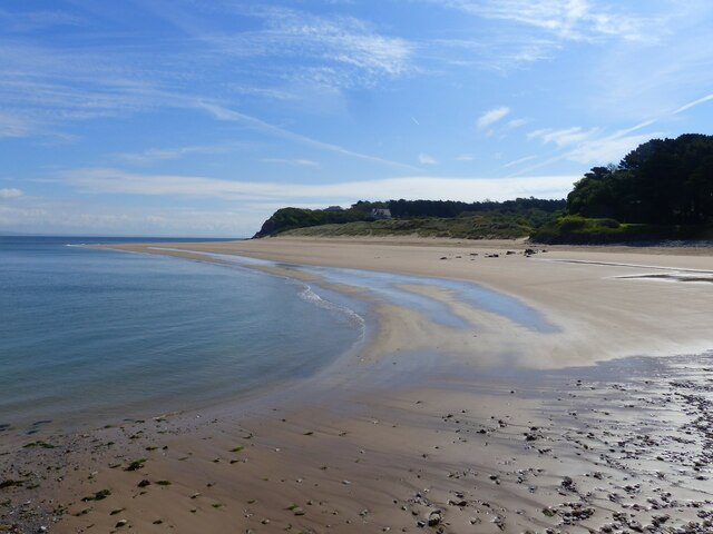 Priory Bay beach from the jetty, Caldey Island