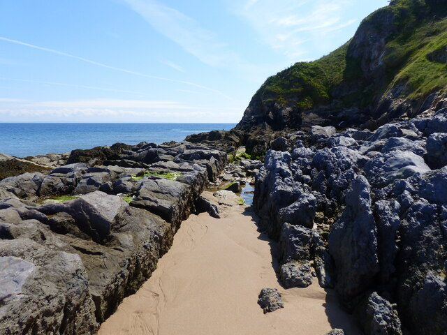 Channel in the rocks, Priory beach, Caldey Island