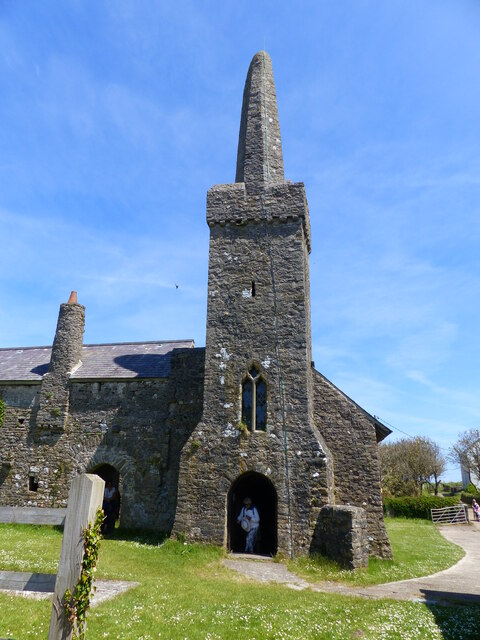 St Illtyd's church, part of the old priory, Caldey Island