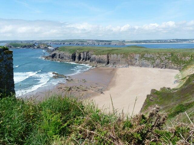 Sandtop Bay from coastal walk, Caldey Island