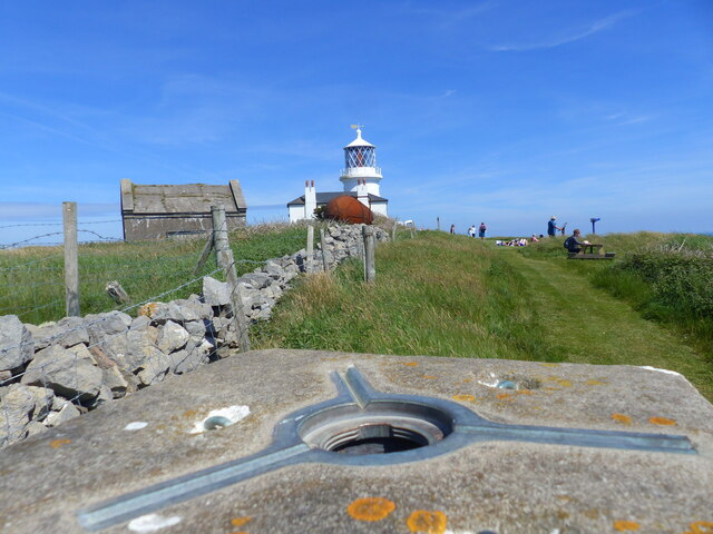 Lighthouse from trig point, Caldey Island