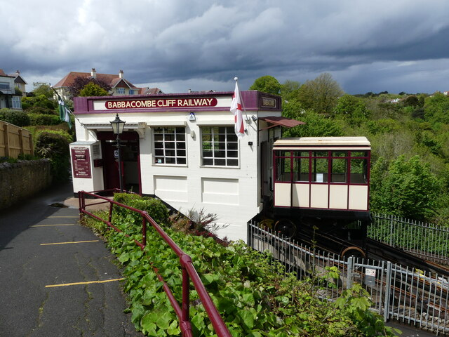 Babbacombe cliff railway - the upper station