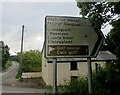 SO3402 : Bilingual direction and distances sign, Monkswood, Monmouthshire by Jaggery